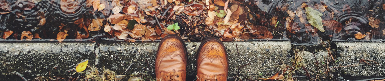 Shoes and fall leaves