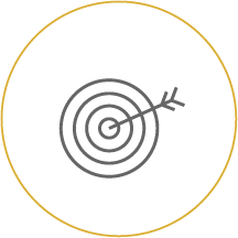 Bullseye icon linking to Wealth Management - Investing Your Way