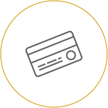 Credit card icon linking to Online Security & Fraud Info - Lost Debit/Credit Card