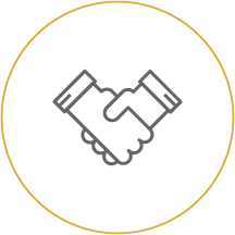 handshake icon linking to Business Loan Services page - Cooperative Business Services